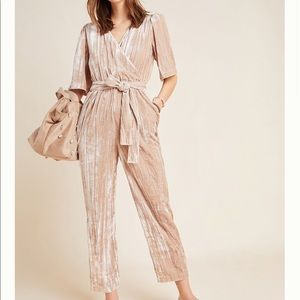 NWT Mandy Crushed Velvet Jumpsuit